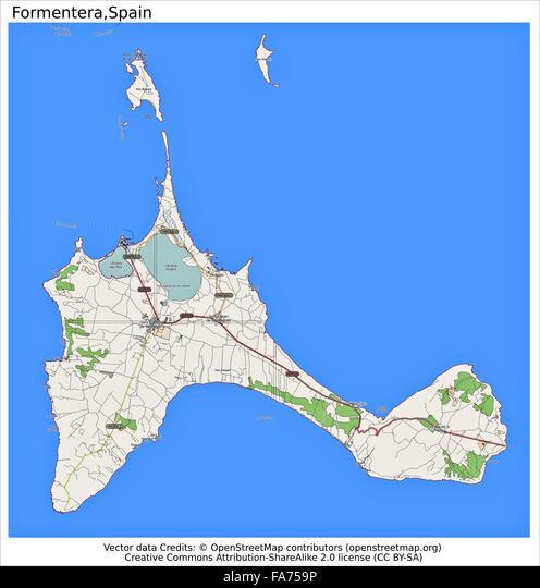 Cartina Geografica Spagna E Formentera.Formentera Spagna Posizione Mappa Foto Stock Alamy