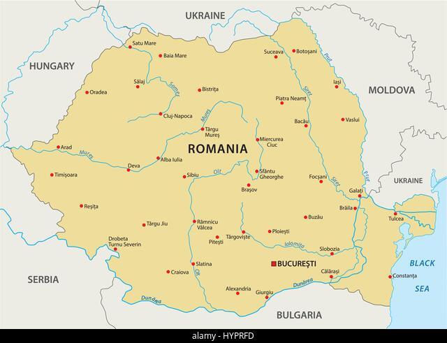 Cartina Dettagliata Romania.Mappa Di Romania Immagine E Vettoriale Alamy