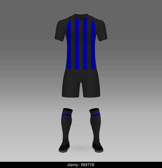 Kit calcio Inter e Milan, modello di maglietta per Soccer jersey ...